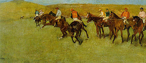 Edgar Degas-At The Races Before The Start