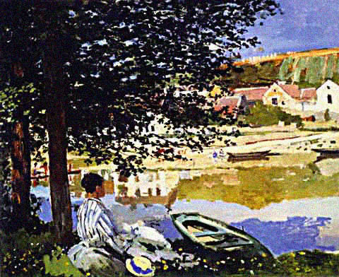 Claude Monet-At the Seine at Bennecourt