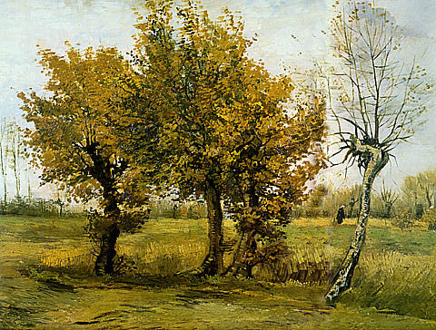 Vincent Van Gogh-Autumn Landscape With Four Trees