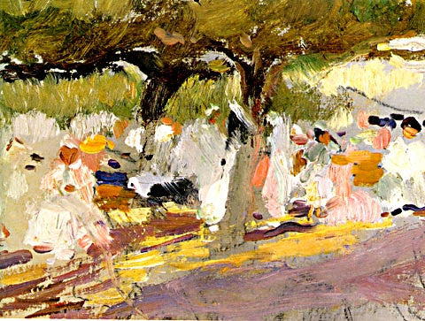 Joaquin Sorolla-The Tamarind Trees