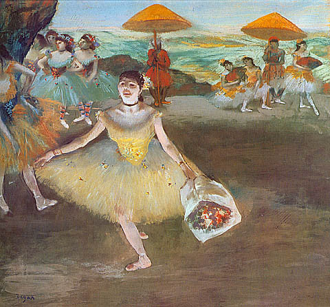 Edgar Degas-Ballet Dancer Saluting