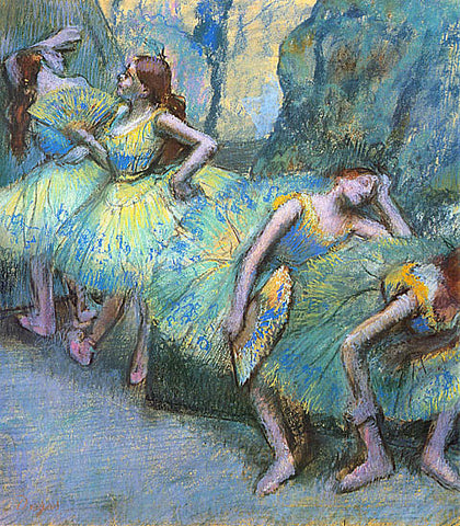 Edgar Degas-Ballet Dancers In The Wings