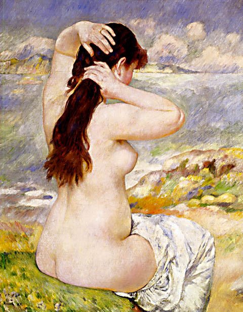 Pierre Auguste Renoir-Bather Arranging Her Hair 1885