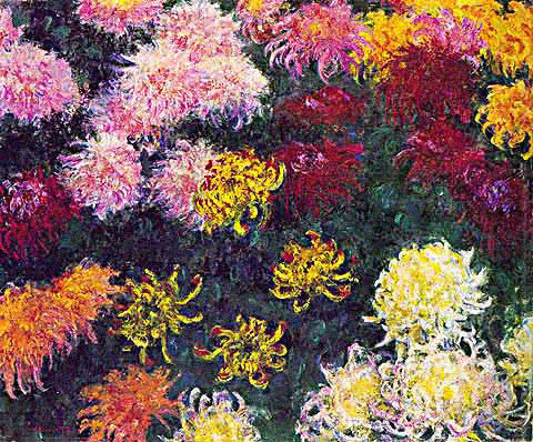 Claude Monet-Bed of Chrysanthemums