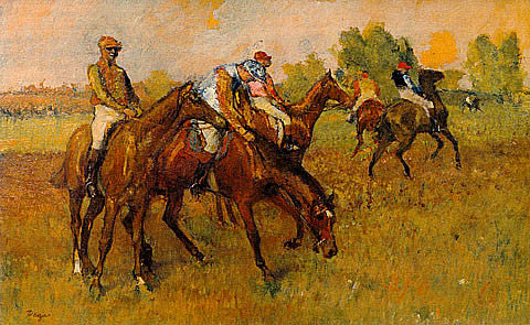 Edgar Degas-Before The Race Degas