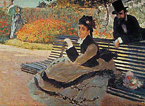 Claude Monet-The Bench 1873