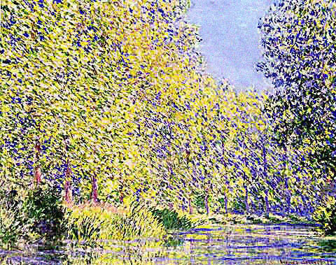 Claude Monet-Bend in the Epte River Near Giverny