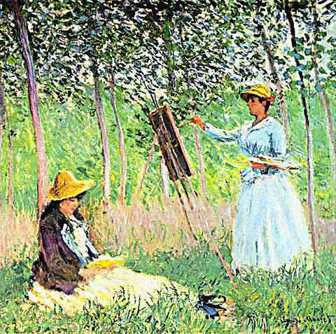 Claude Monet-Blanche Monet Painting
