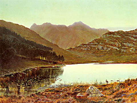 John Atkinson Grimshaw-Blea Tarn At First Light 1865