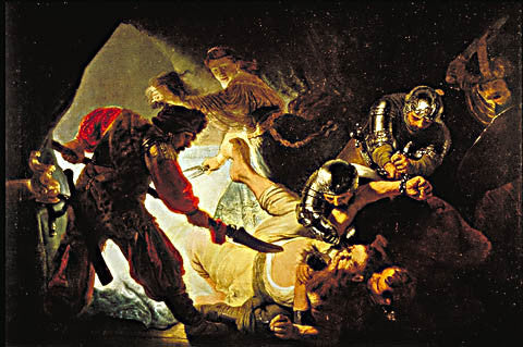 Rembrandt-Blinding Of Samson 1636
