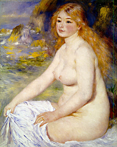 Pierre Auguste Renoir-Blonde Bather 1881