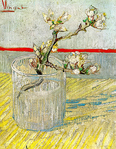Vincent Van Gogh-Blossoming Almond Branch In A Glass