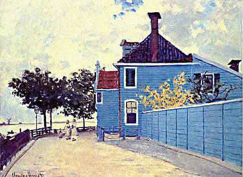 Claude Monet-Blue House