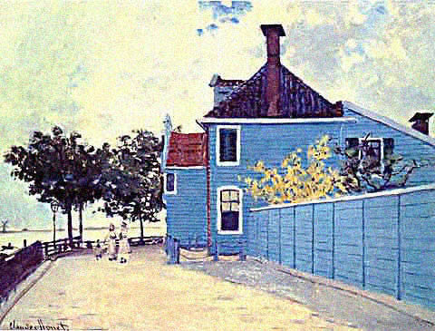 Claude Monet-Blue House Zaandam