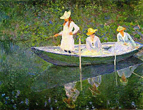 Claude Monet-Boat at Giverny