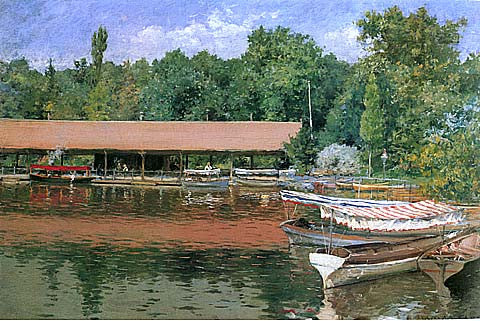 William Merritt Chase-Boat House