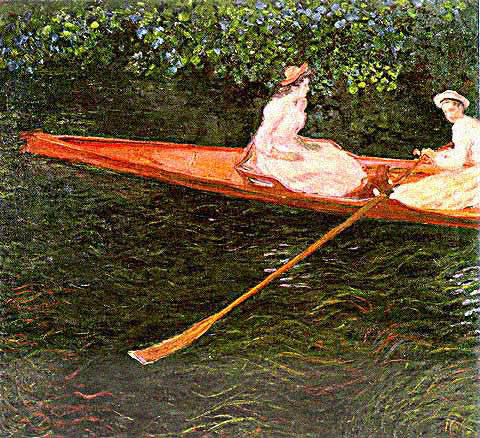 Claude Monet-Boat in the River Epte