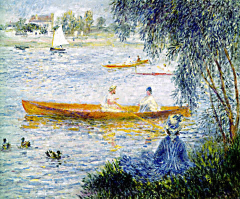 Pierre Auguste Renoir-Boating At Argenteuil 1873