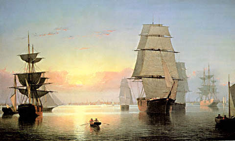 Fitz Huge Lane-Boston Harbor Sunset 1850