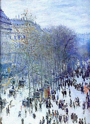 Claude Monet-Boulevard Des Capucines Winter