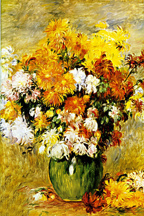 Pierre Auguste Renoir-Bouquet Of Chrysanthemums 1885