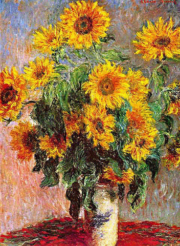 Claude Monet-Bouquet of Sunflowers
