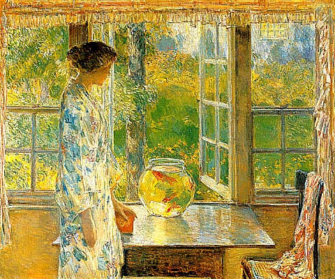 Childe Hassam-Bowl Of Goldfish