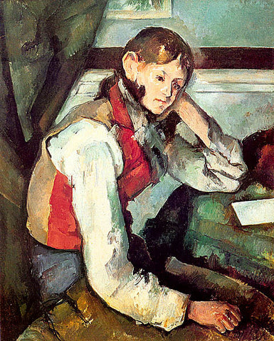 Paul Cezanne-Boy In A Red Waist Coat