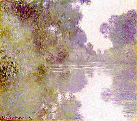 Claude Monet-Branch of the Seine Near Giverny II