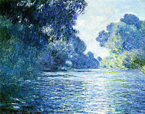 Claude Monet-Branch of the Seine Near Giverny