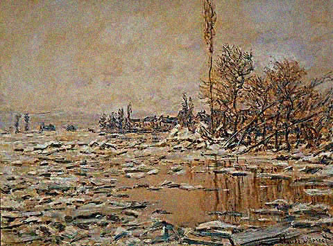 Claude Monet-Break Up of the Ice 1880