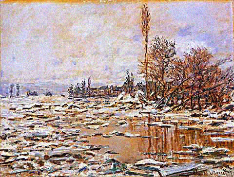 Claude Monet-Breakup of Ice