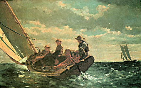 Winslow Homer-Breezing Up 1876