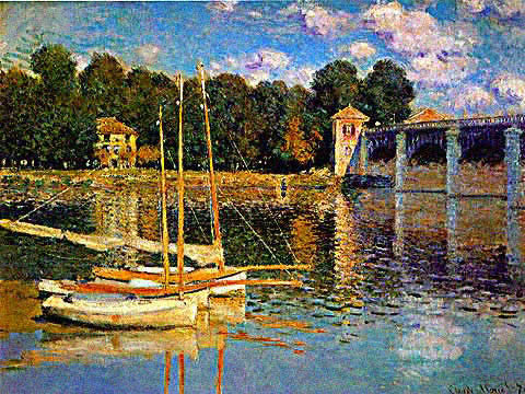 Claude Monet-Bridge at Argenteuil