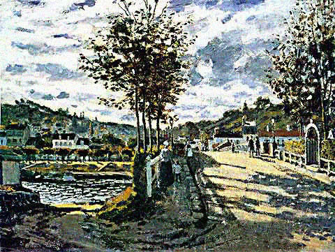 Claude Monet-Bridge at Bougival