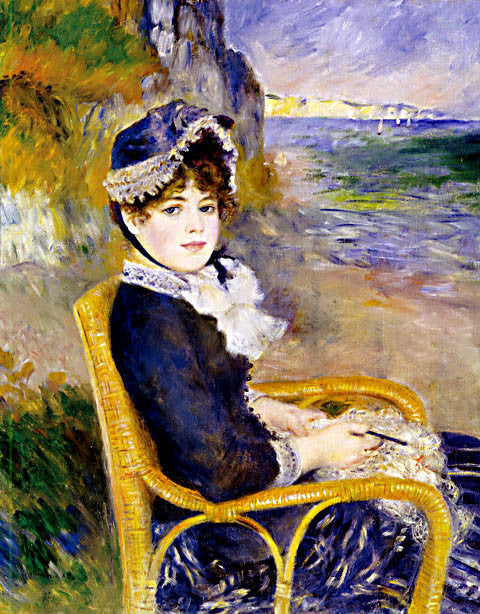 Pierre Auguste Renoir-By The Seashore 1883