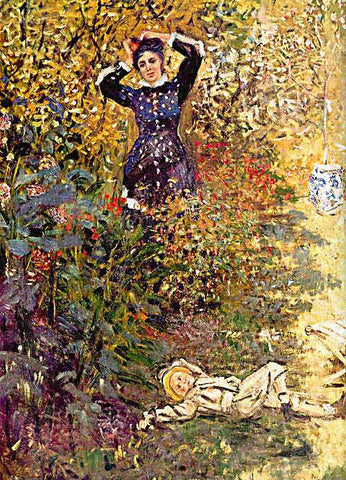 Claude Monet-Camile and Jean Monet in the Garden