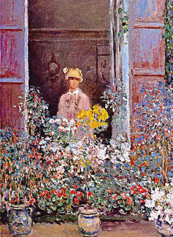 Claude Monet-Camille Monet at the Window