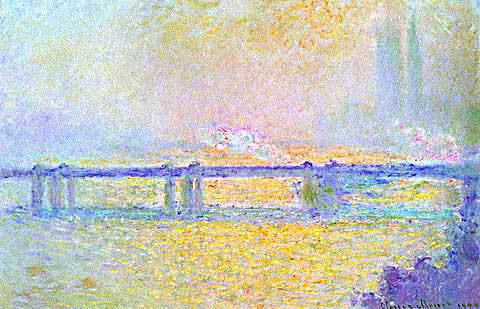 Claude Monet-Charing Cross Bridge Overcast Weather