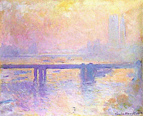 Claude Monet-Charing Cross Bridge Sun Effect