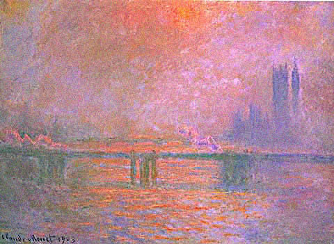 Claude Monet-Charing Cross Bridge La Tamise