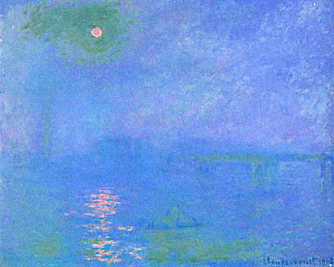 Claude Monet-Charing Cross Bridge Moon Reflections