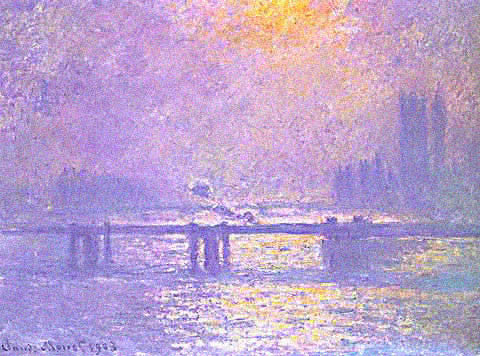 Claude Monet-Charing Cross Bridge Sun Reflections