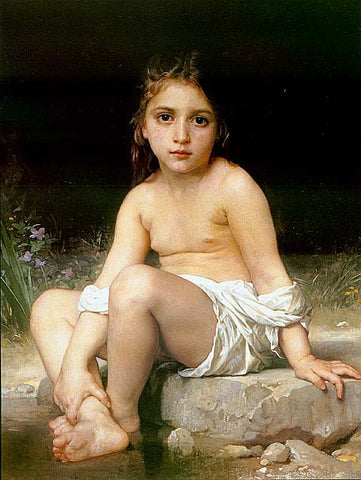 William Adolphe Bouguereau-Child At Bath