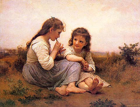 William Adolphe Bouguereau-Childhood Idyll