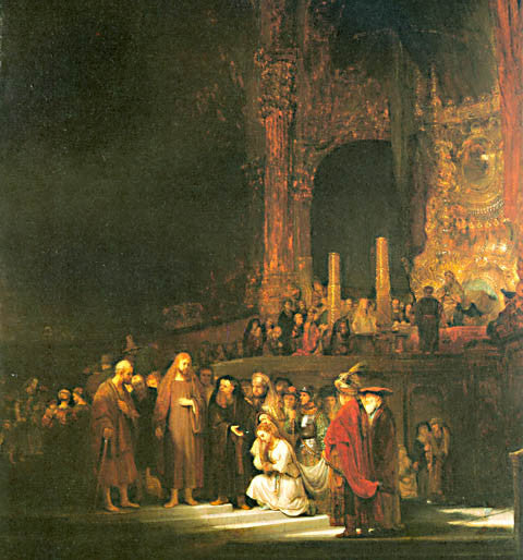 Rembrandt-Christ And The Adulteress
