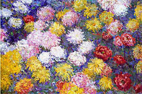 Claude Monet-Chrysanthemums