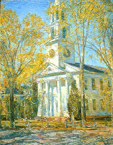 Childe Hassam-Church At Old Lyme