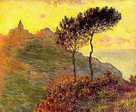 Claude Monet-Church at Varengeville Grey Weather