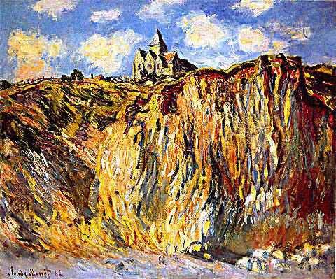 Claude Monet-Church at Varengeville